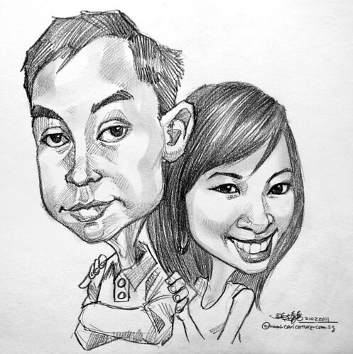 couple caricatures in pencil 21022011