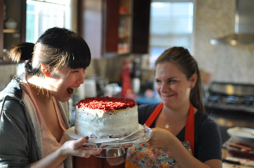 Heart Cake Baking