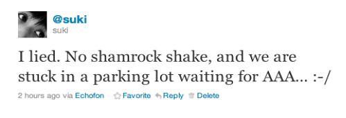 Shamrock Shake Update