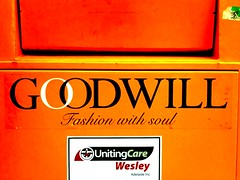 Fashion With Soul (Theen ...) Tags: orange church fashion australia bin collection soul goodwill theen iphone3gs unitingcarewesley