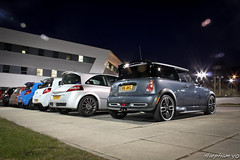 ClioSport Meet (Harpham PT) Tags: blue cup shed clio mini s racing renault 200 cooper mk2 rs gp 172 megane flamer 182 mk3 197 renaultsport
