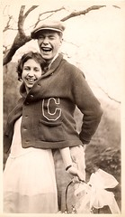 Smiles of joy (sctatepdx) Tags: fun found happy couple snapshot joy smiles happiness laugh laughter vintageclothes vintagecouple vintagesnapshot lettermanssweater
