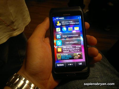 Nokia E7 Portrait Mode