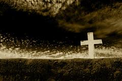 Cruz al cielo III (Andy Murray.) Tags: chile white black blanco graveyard y cementerio negro atacama copiapo