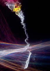 Deep Space Tornado (Reciprocity) Tags: light abstract art film glass analog experimental colours space refraction analogue tornado caustics deepspace photogram diffraction lightart shadowgraph p38 fuji64t reciprocity refractograph lenslessphotography wg12 s1421a