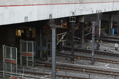 Security gates around the Through Train platforms at Hung Hom station