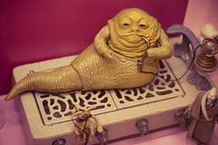 Jabba the Hutt (mrksaari) Tags: old monster museum vintage espoo finland toy star gangster space d70s retro figure scifi mission jabba wars finnish 50mmf18d hevosenkenkä weegee hutt lelumuseo leikkilinna