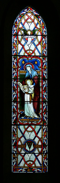 avon dassett hardman stained glass saint anne virgin reading