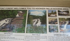 Sign for Hooker Falls Access Area