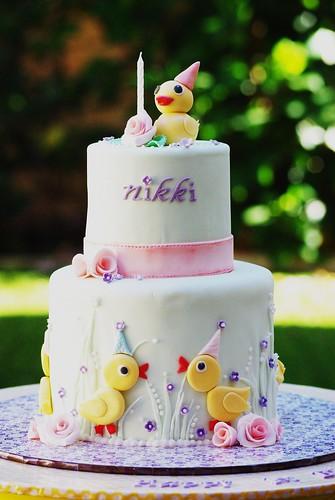 Nikki's 1st Birthday Cake