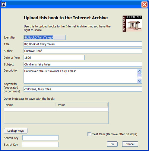 Book Scan Wizard Internet Archive Upload Interface