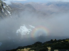 Isle of Skye.... a very rare `Brocken spectre (Gary ( Gaz ) Simpson) Tags: trees mountains nature rural walking landscape scotland countryside scenery scenic hills climbing forests scottishwildlife munrobagging scottishwinter scotishscenery scotlandscoast