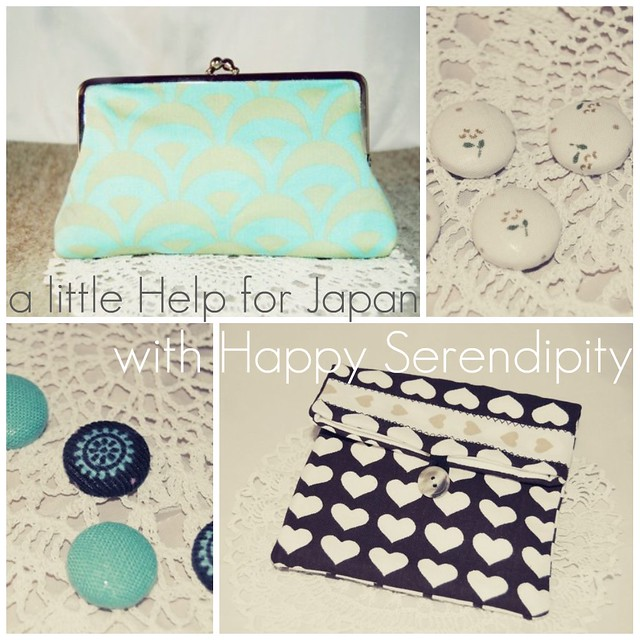 "Buy a ""little help"" for Japan...and something for your heart from Happy Serendipity...give a smile...;)..."