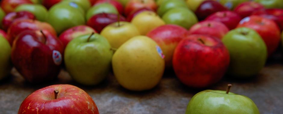 Fotografía de unas manzanas