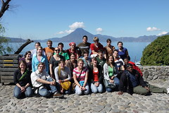 The group in front of Lake Atitlan.