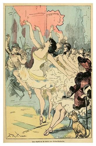 003-Repeticion del ballet en las Follies-musicales-La grande mascarade parisienne 1881-84-Albert Robida