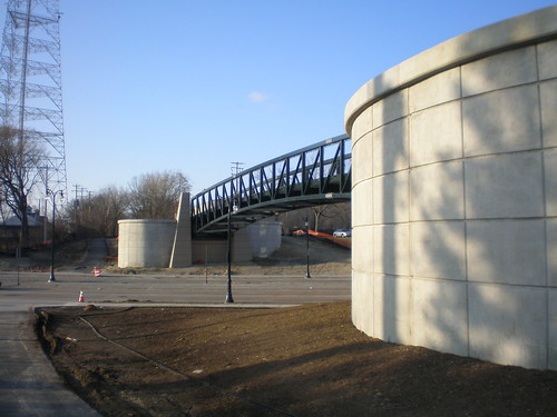 Capitol Drive bridge on Oak Leaf Trail