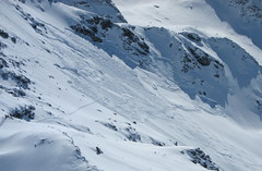 Avalanche at Mont du Vallon, Meribel
