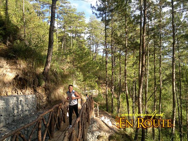 A runner of the bridge heading back