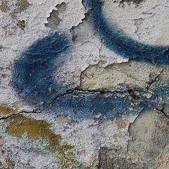 Battered Wall (jacknalfiesmum) Tags: old blue white london wall square graffiti peeling paint flake peelingpaint flaking cracked battered welcomeuk