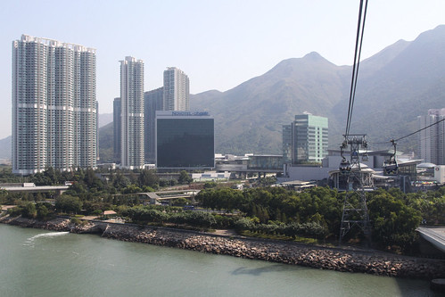 Apartment blocks tower over Tung Chung New Town