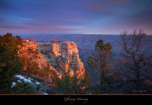 Glowing Morning-Sunrise at Grand Canyon