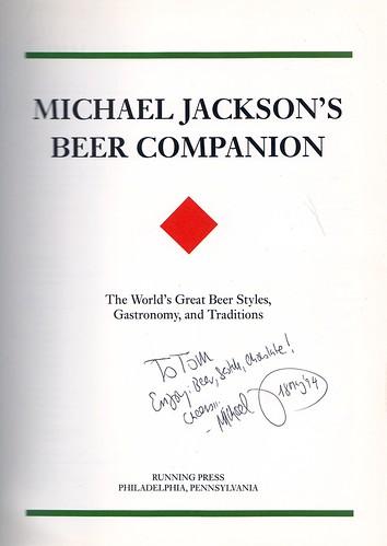 Michael Jackson's autograph