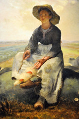 Jean-Francois Millet - Young Shepherdess at Boston Museum of Fine Arts (mbell1975) Tags: boston museum painting ma us mfa gallery museu jeanfrancois massachusetts fine arts young muse musee m museo mass muzeum millet mze shepherdess mfaboston museumuseum