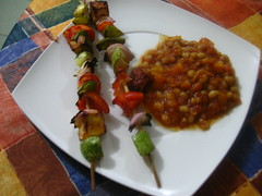 Beninese cassoulet w/ wagasi brochettes (theresac) Tags: africa cooking benin cassoulet foodblogging traditionalrecipe