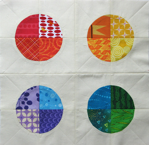 Pieced Quarter Circles