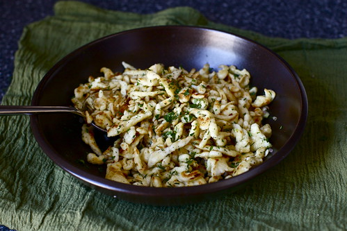 pan-toasted with shallots, herbs