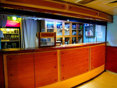 Bar on Navimag's Puerto Eden