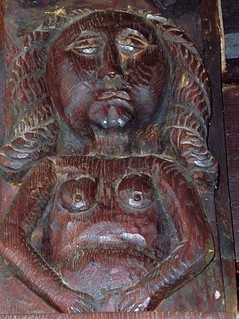 Explicit Wood Carving, St Bartholomew's Church, Vowchurch