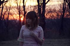 (yyellowbird) Tags: pink sunset girl dress gingham missouri cari mushyface