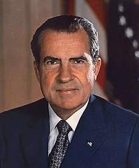former President Richard M Nixon (from US National Archives via Wikimedia Commons)