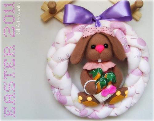 Guirlanda de Páscoa | Easter  Wreath by Sil Artesanato