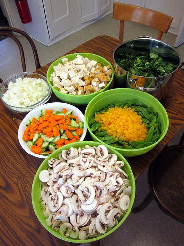 vegetables prepped
