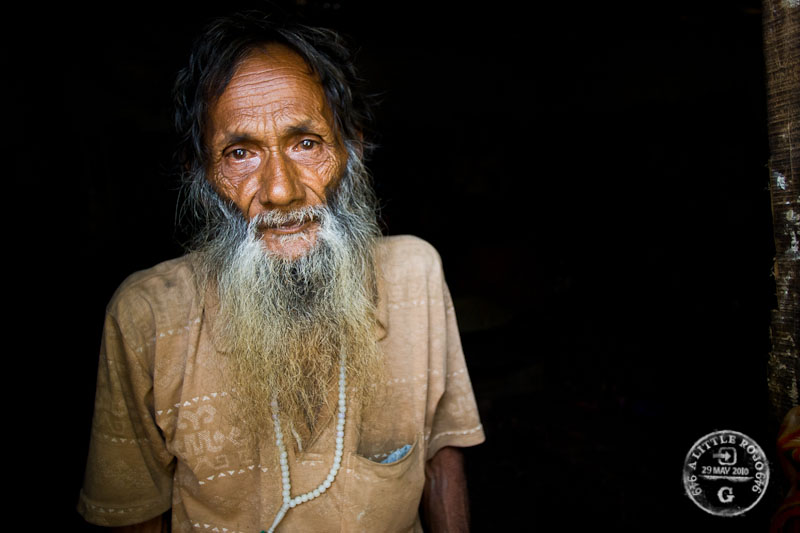 Portrait of a man in Bangladesh.