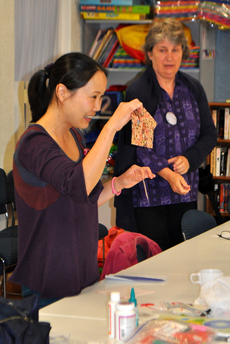 Our Origami instructor - Chieko