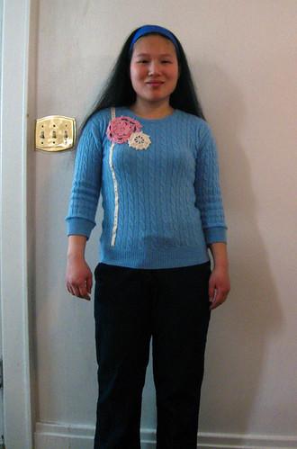 cashmere sweater refashion