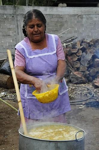 Preparing the corn