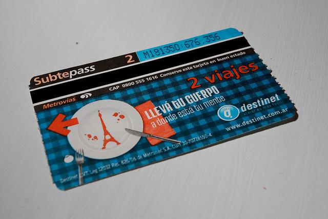 Pasaje subte Buenos Aires
