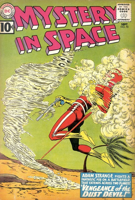 Mystery in Space 70 1961 Adam Strange cover by Carmine Infantino