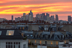 Sunset on La Defense (EC2015) Tags: coucherdesoleil toitsdeparis couleur ladefense niel orange ladfense