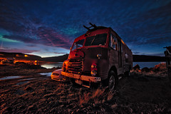 MI446 (mephistofales) Tags: iceland djpavk fjords oldcar hdr highdynamicrange tonemapping roadtrip dusk night stars