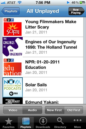 Unplayed Audio Podcasts on Podcaster