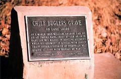 OK Historical Marker - Chief Bugler's Grave - detail