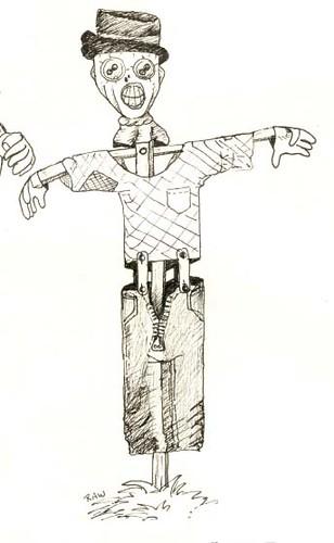 Scarecrow (pen sketch)