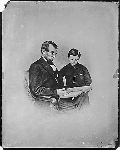 President Abraham Lincoln and Tad Lincoln