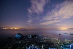 Star trails in Bracciano (Franjanko) Tags: longexposure lake startrails stelle bracciano nikond300 tokina1116mm